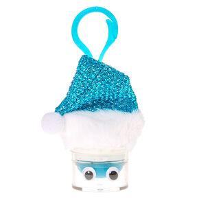 Turquoise Santa Hat Lip Balm Keychain,