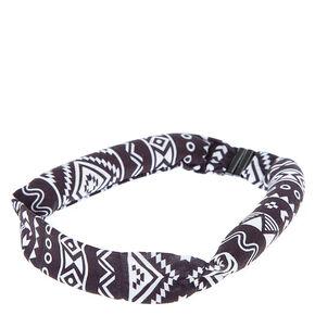 Aztec Print Heatless Curling Headband,