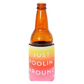 Just Poolin' Around Drink Koozie,
