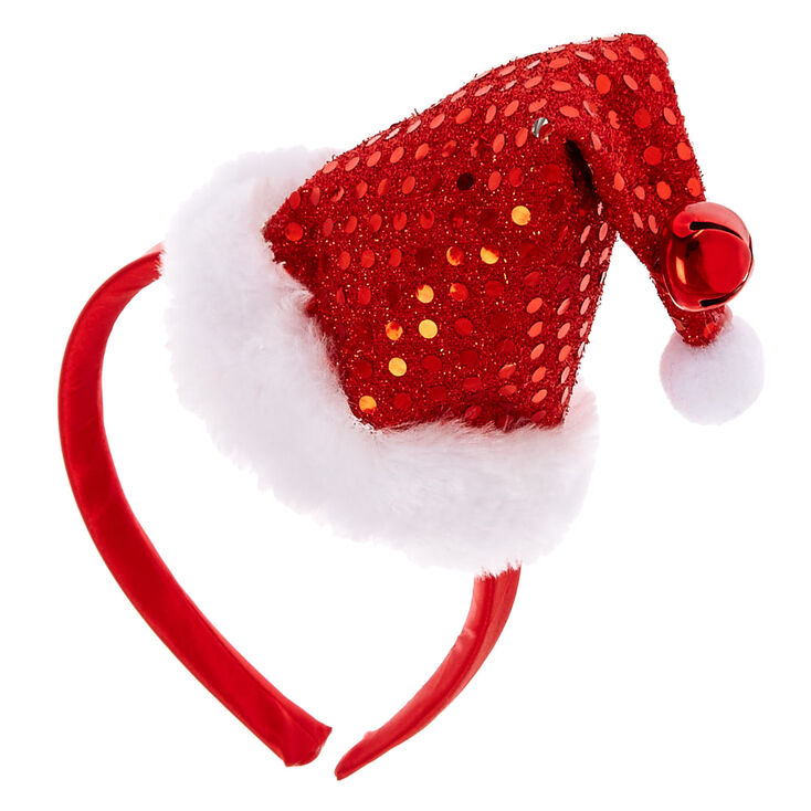 Sequin Santa Hat Headband,