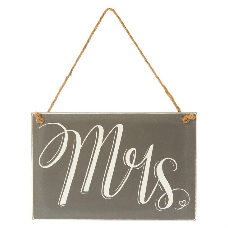 Mrs. Chalkboard Chair Sign,