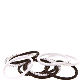 Reflective Black And White Hair Ties,