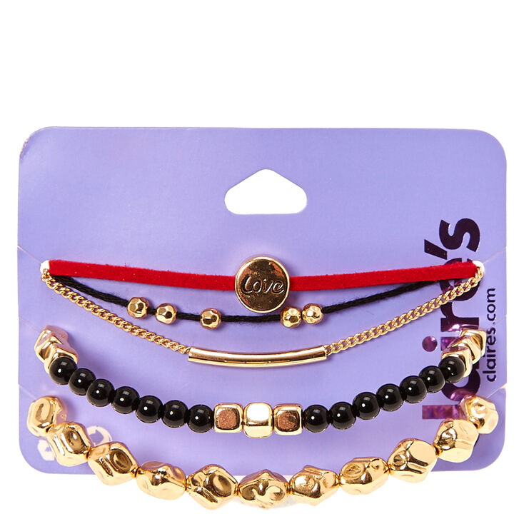 Red Love 5-Piece Bracelet Set,