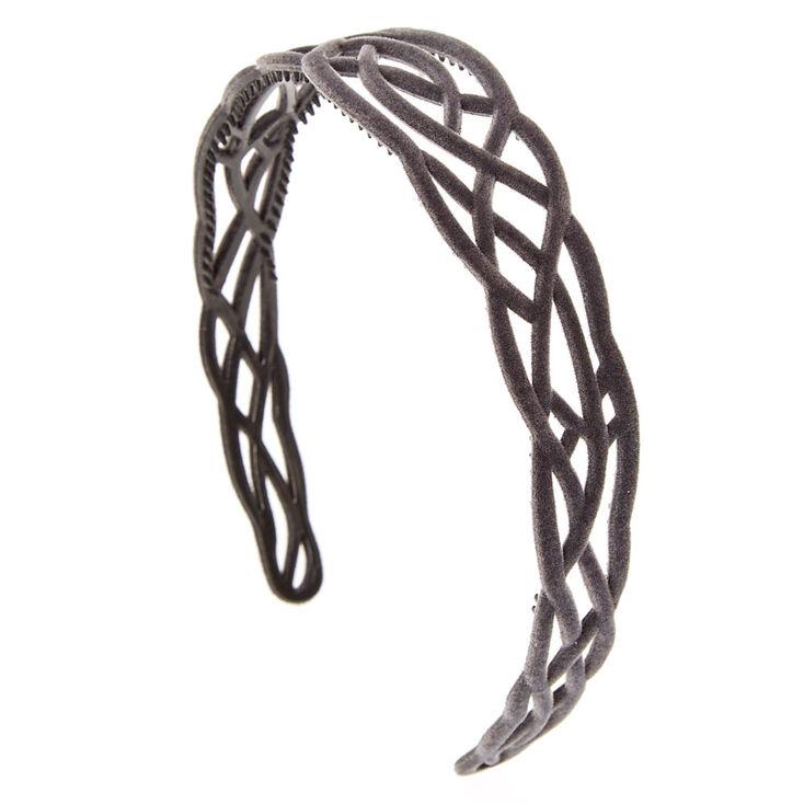 Celtic Grey Velvet Headband,