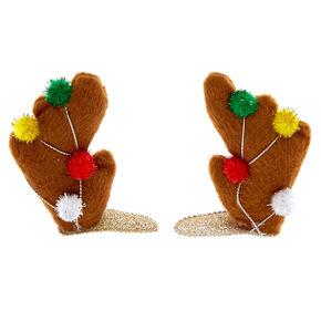 Reindeer Antler Hair Clips,