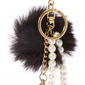 Black Tassel Pearl Keychain,