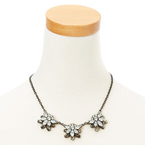 Flower Stone Earrings and Necklace Set,