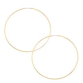100MM Skinny Gold-tone Hoop Earrings,