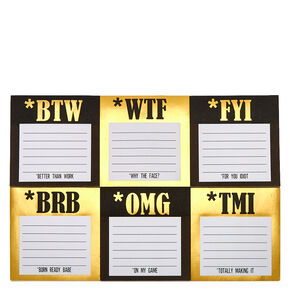Black & Gold Sticky Notes,