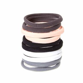 Pink and Gray Rolled Hair Ties,
