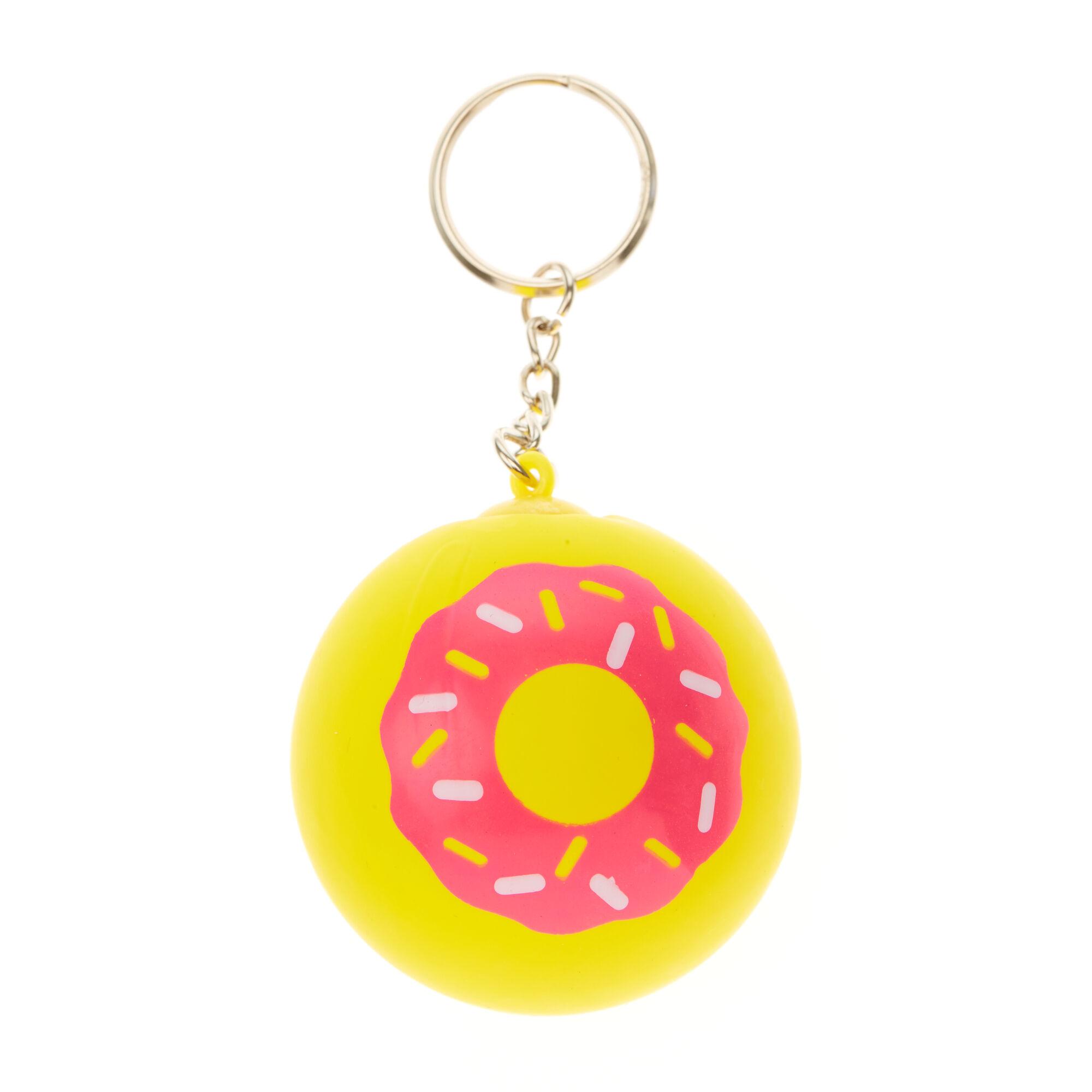 ball keyring. doughnut stress ball keyring
