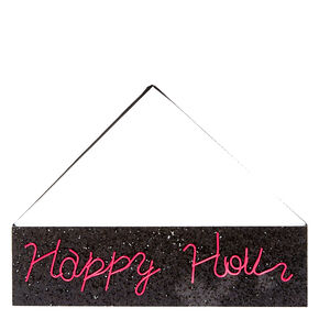 Neon Pink Happy Hour Wall Art,