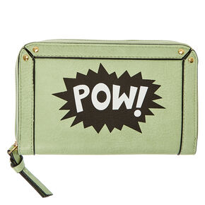 Mint Green Comic POW! Wallet,