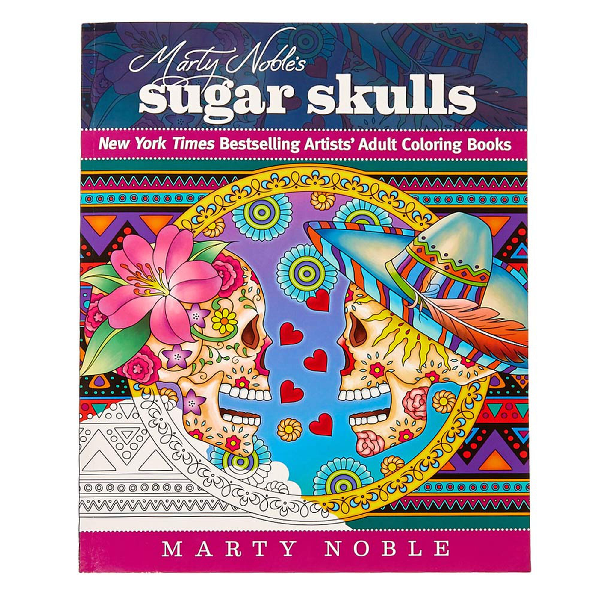 marty nobles sugar skulls coloring book - Sugar Skull Coloring Book