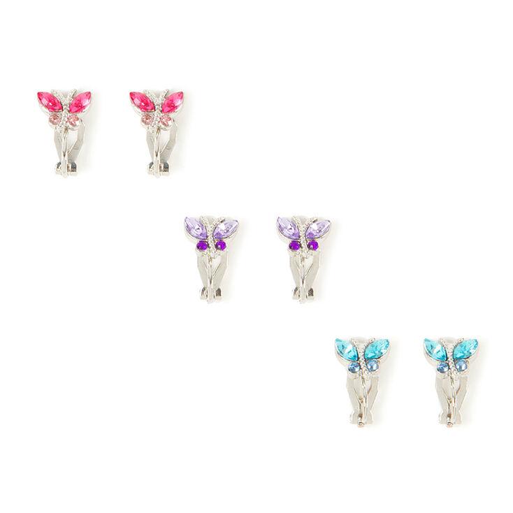 butterfly clip on earrings 3 pack s us
