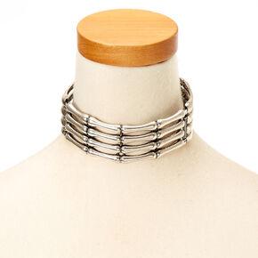 Metal Skeleton Hands Choker Necklace,