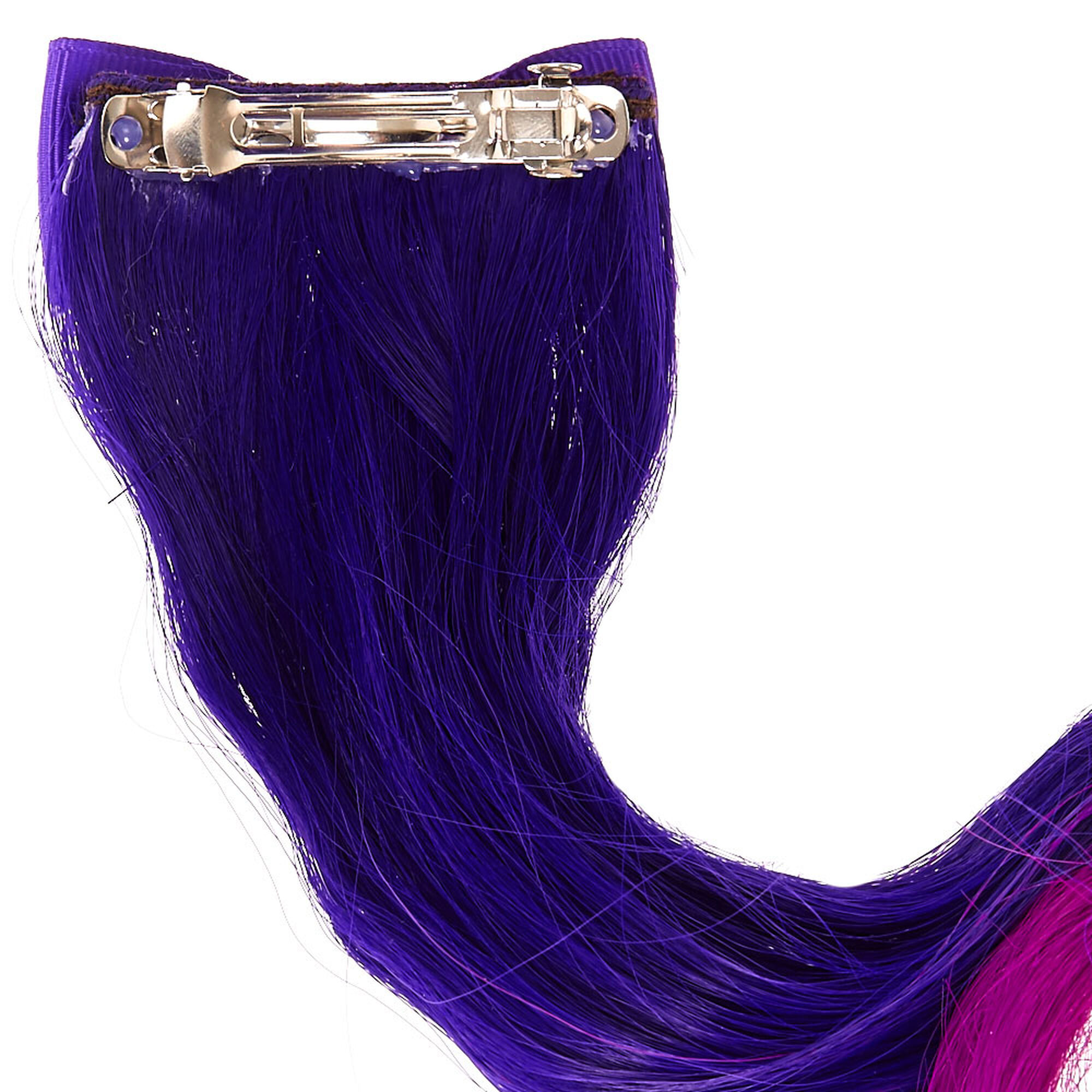 Kids purple ombre hair extension clip claires us kids purple ombre hair extension clip pmusecretfo Images