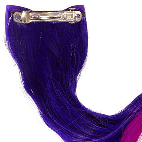 Fake hair clip ins extensions wigs claires us kids purple ombre hair extension clip pmusecretfo Images