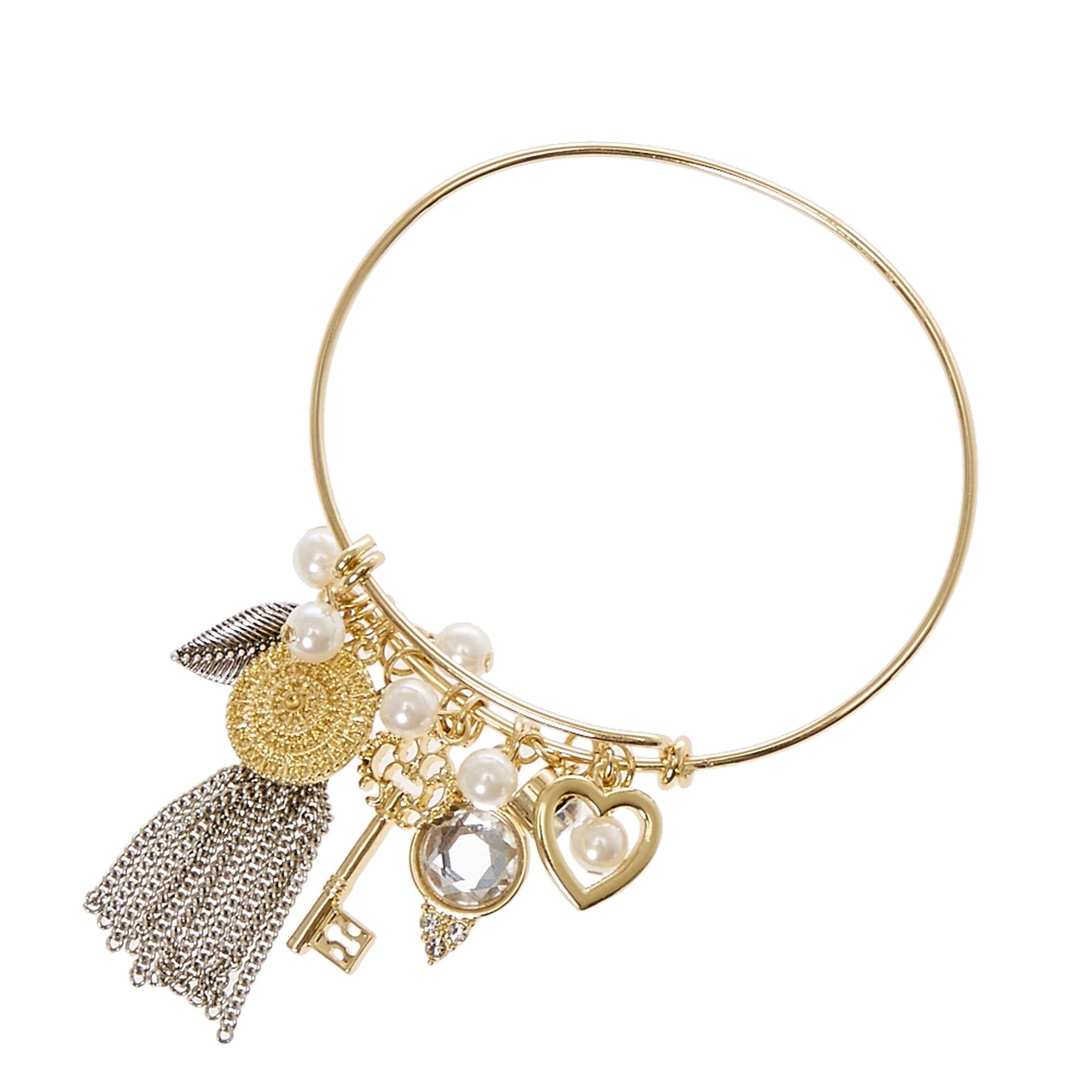gold wire charm bracelet s us