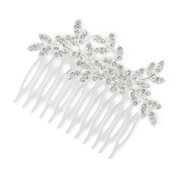 Crystal Leaves and Flower Hair Comb at Icing in Victor, NY | Tuggl