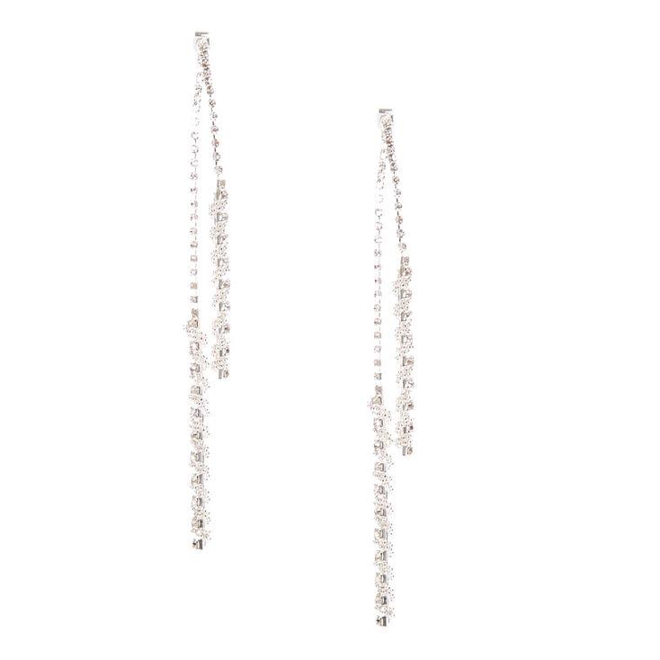 Twisted Linear Drop Earrings,