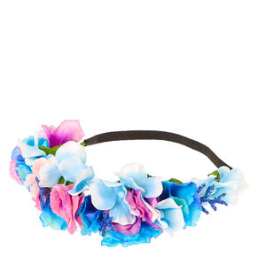 Purple Pink & Blue Pastel Flower Crown,