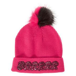 Pink BRRRRR Beanie,