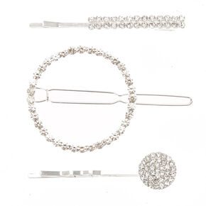 Geometric Faux Crystal Hair Clip and Bobby Pins,