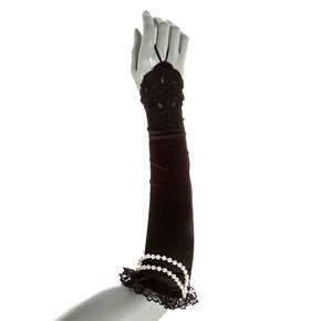 1920's Flapper Long Fingerless Gloves,
