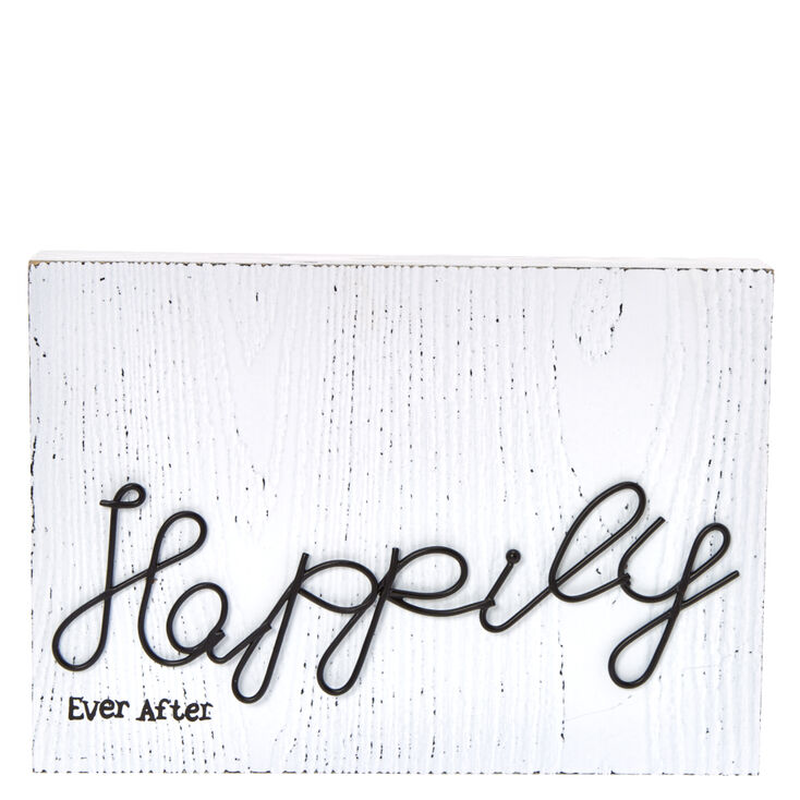 Happily Ever After Wooden Wall Art,