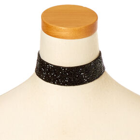 Black Crushed Stone Choker,