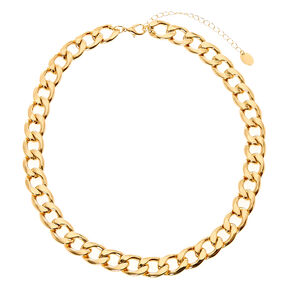 Thick Gold Chain Link Necklace,