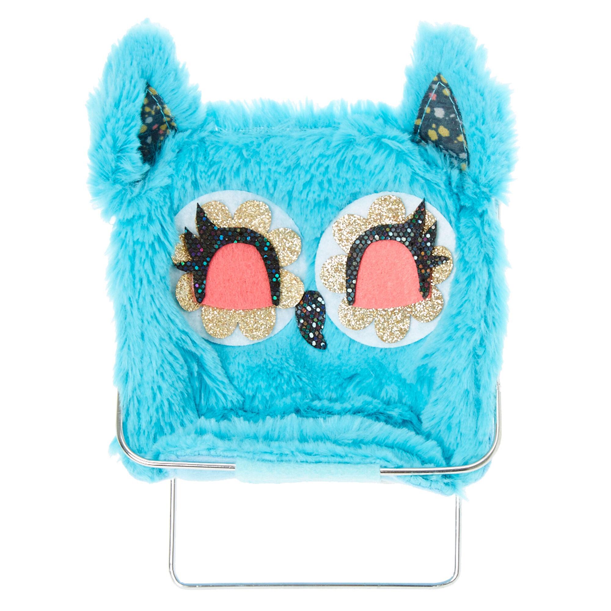 Plush Blue Owl Phone Holder Chair