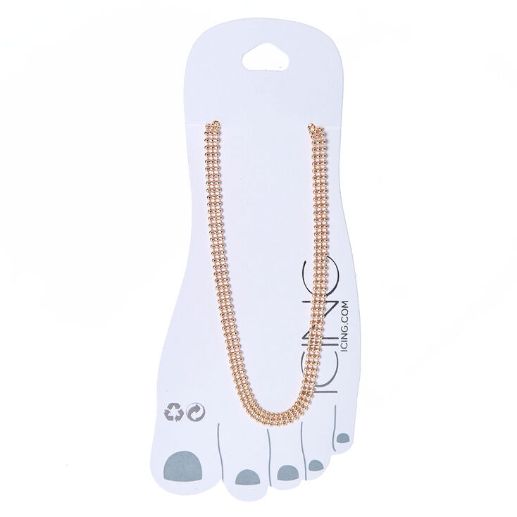 Rose Gold Bead Chain Anklet at Icing in Victor, NY | Tuggl