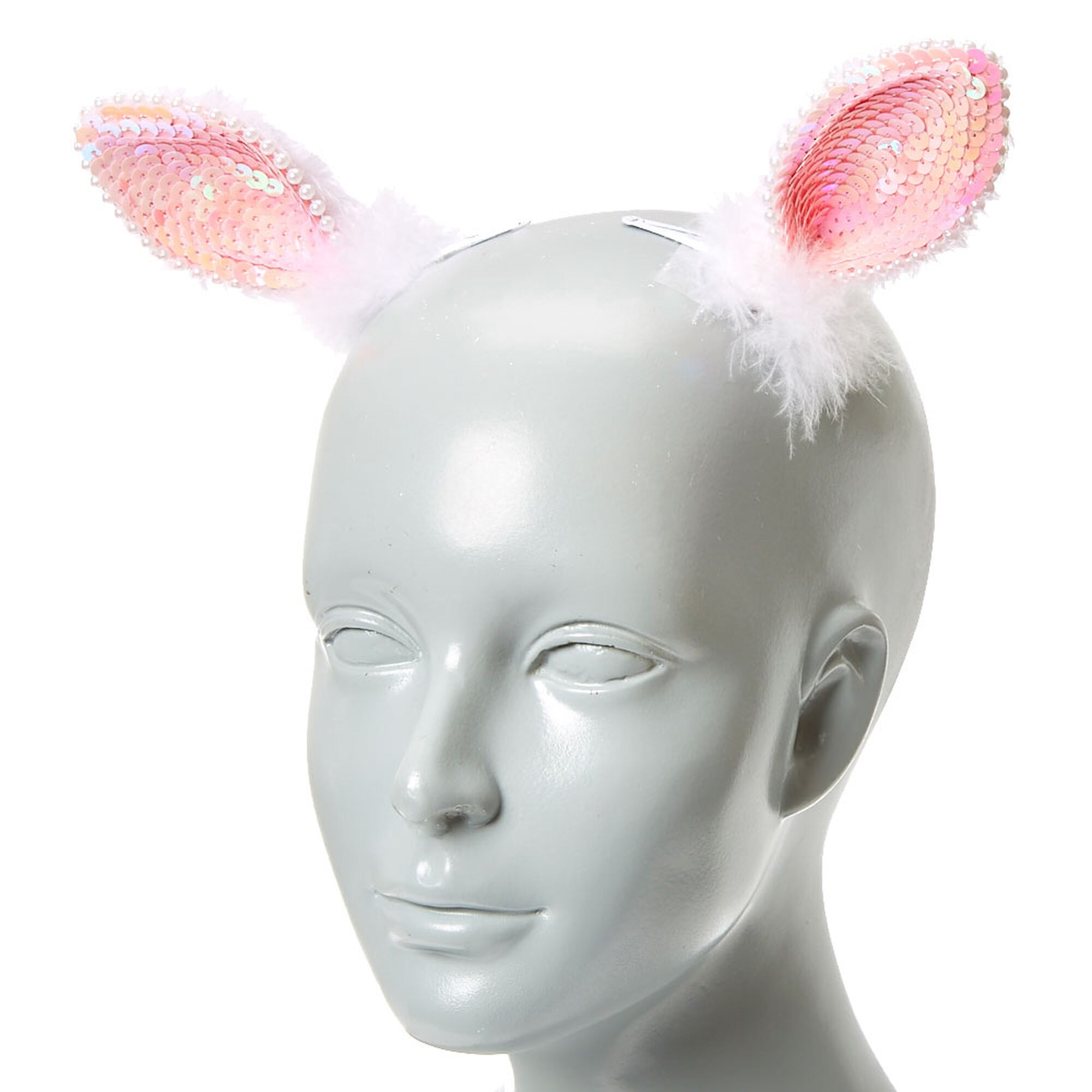 Clip On Sequin Bunny Ears   Claire's