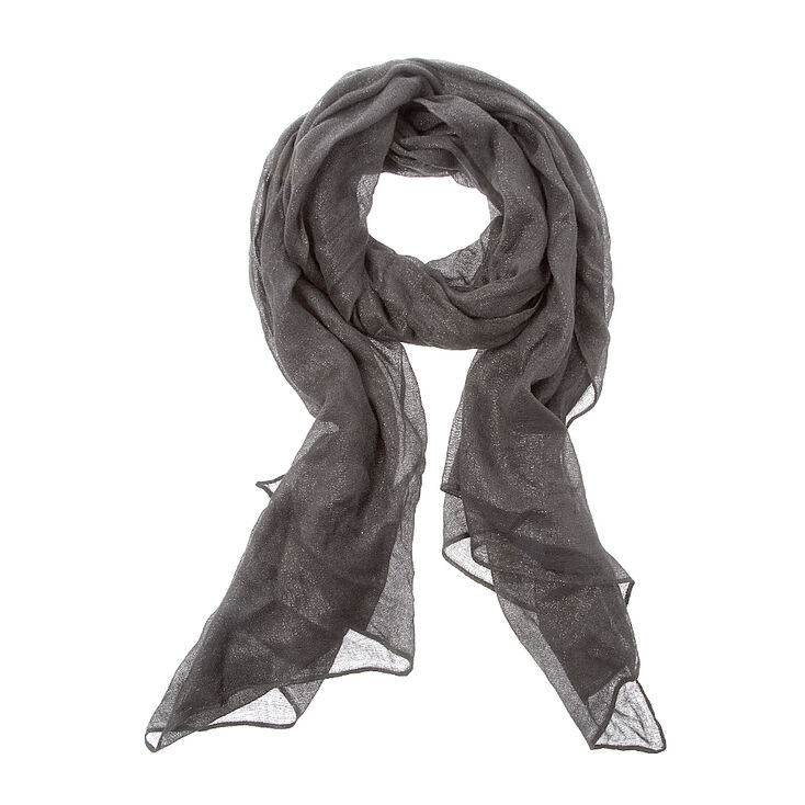 Iridescent Gray Oblong Scarf,