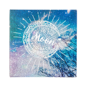 I Love You To The Moon And Back Wall Canvas,