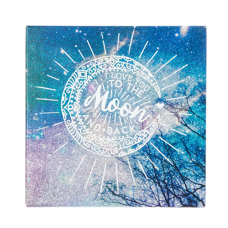 Love You To The Moon And Back Wall Art i love you to the moon and back wall canvas   icing ca