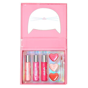 Cut Out Pink Cat Lip Gloss Booklet Set,