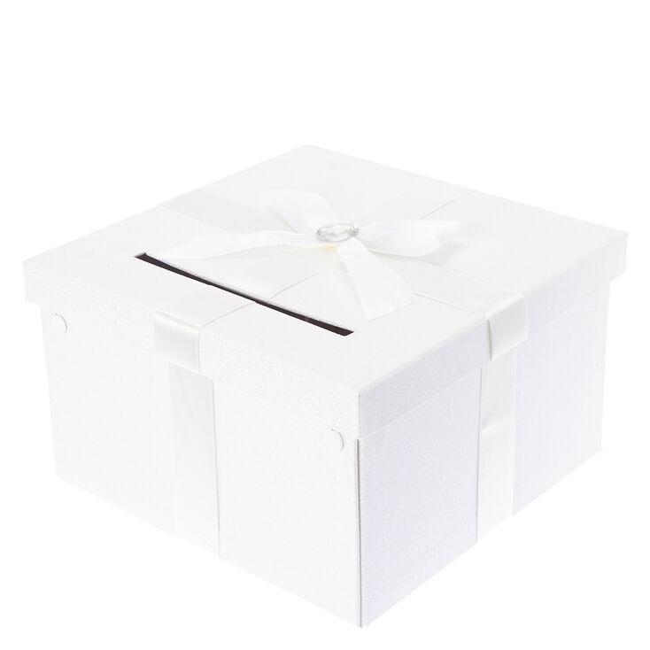 White Wedding Card box,