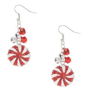 Jingle Bells & Peppermints Drop Earrings,