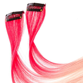 Fake hair clip ins extensions wigs claires us 2 pack bubble gum pink ombre clip on extensions pmusecretfo Choice Image