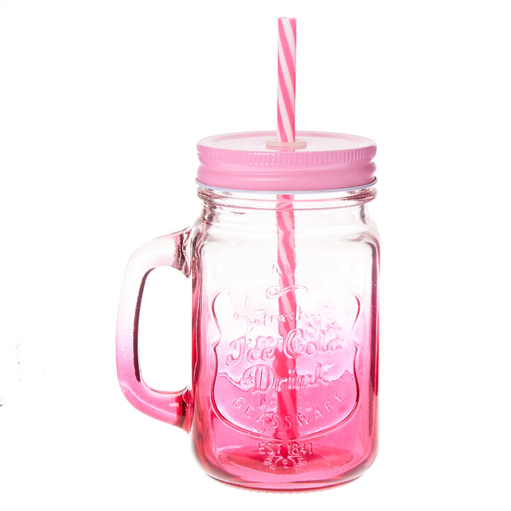 Mason Jar in Pink Ombre,
