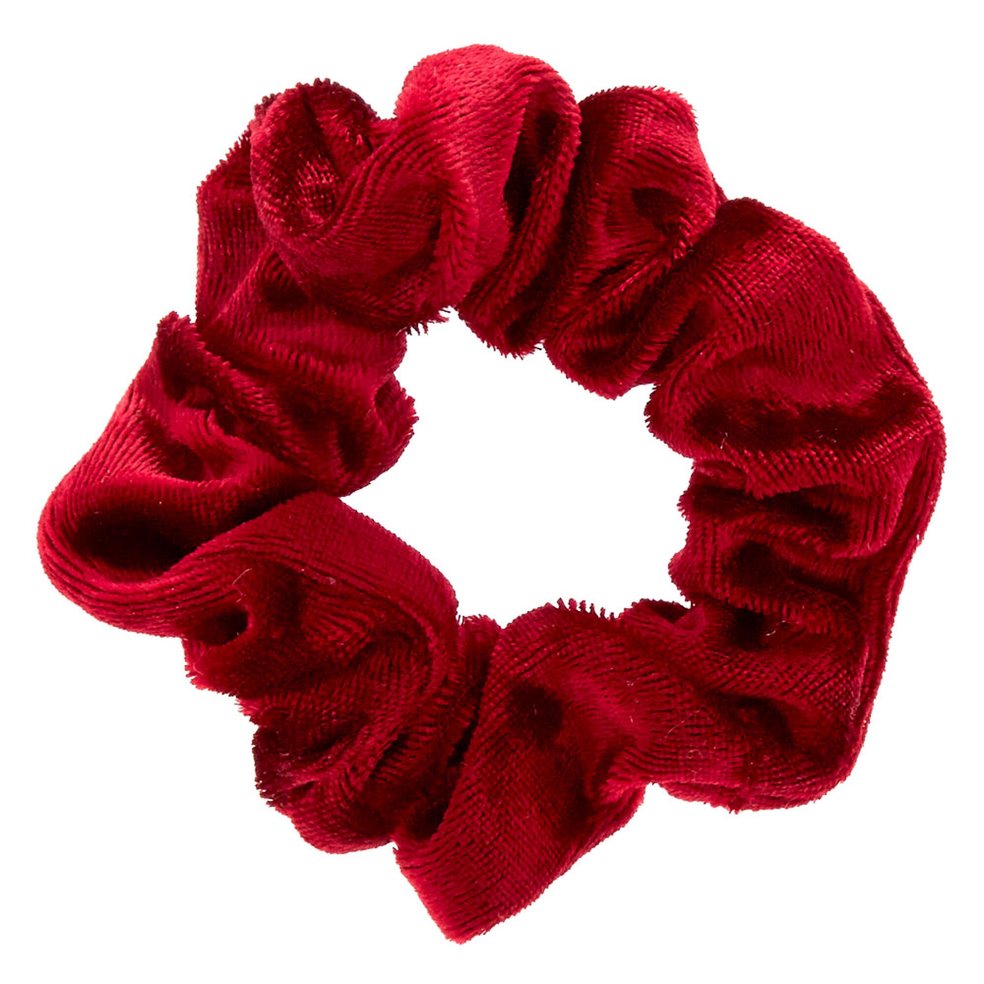 mini burgundy velvet hair scrunchie s us