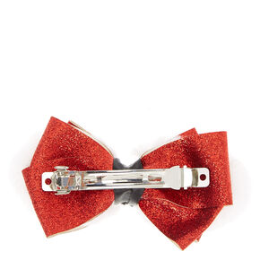 Holiday Santa Belt Buckle Bow Hair Clip,