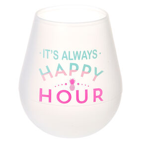 It's Always Happy Hour Silicone Wine Glass,