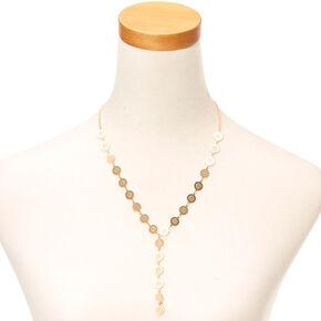 Gold Filigree Drop Necklace,