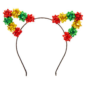 Confetti Gift Bow Cat Ears Headband,