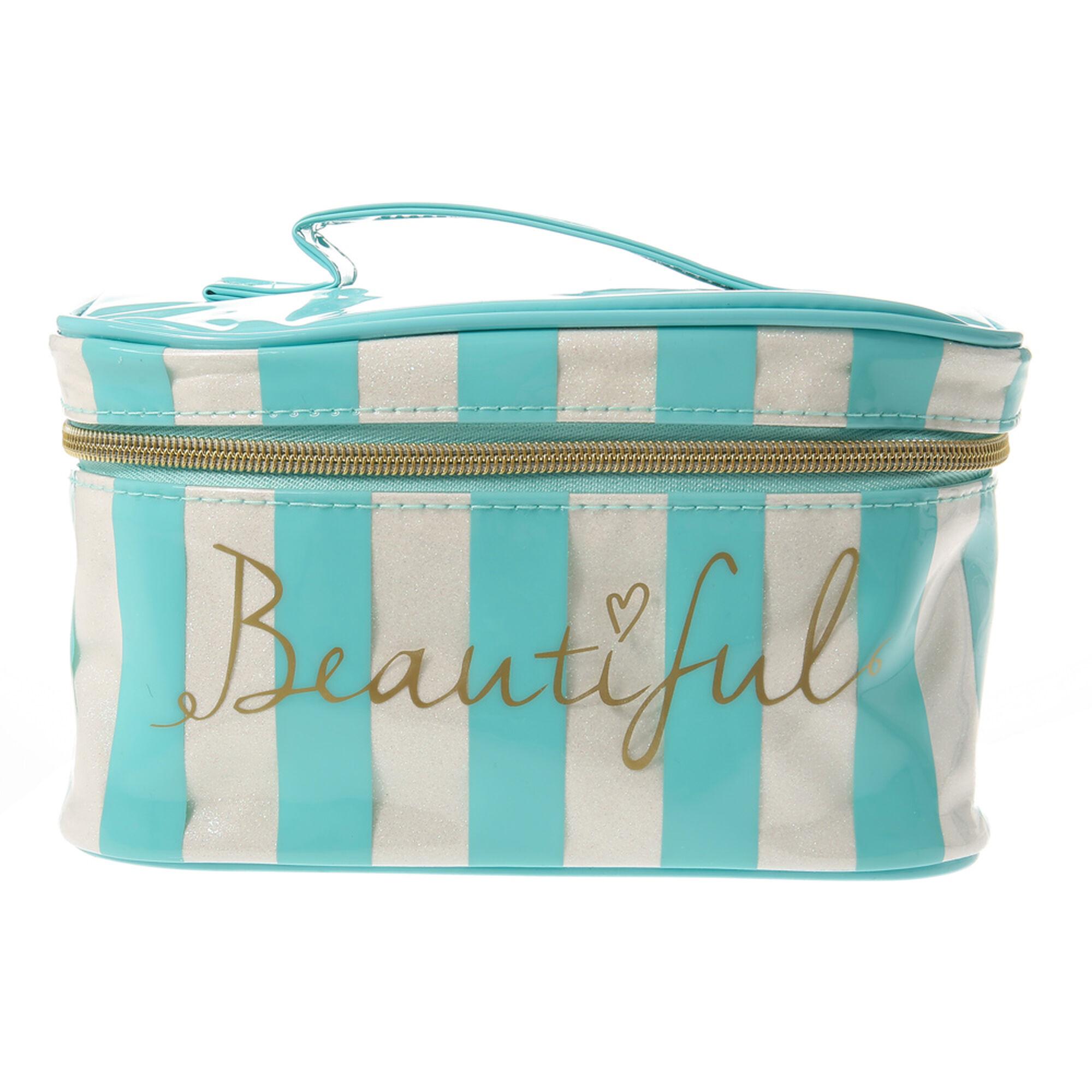 Turquoise Beautiful Makeup Bag