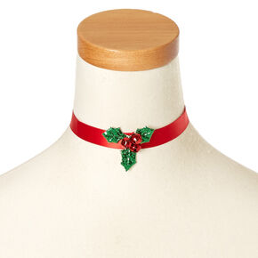Holly Jingle Bells Choker Necklace,
